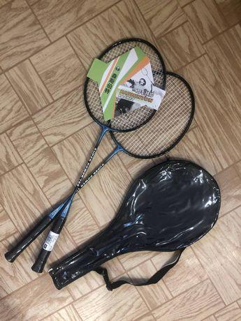 Набор ракеток для бадминтона Sen Sport сталь+углепластик бадминтон