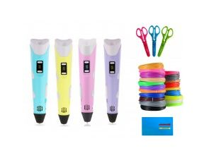 3D Pen 2 3д ручка + ПОДАРОК ножницы+доска+пластик