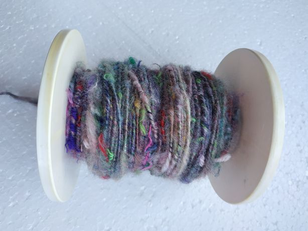 Арт пряжа ручного прядения вязание валяние шерсть