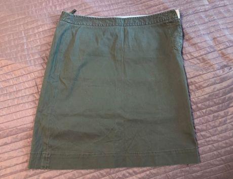 продам стильную летнюю юбку хлопок катон цвет хаки