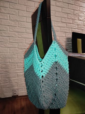 torebka worek z sznurka handmade