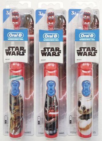 Детская электрическая зубная щетка Oral-B Kids от 3 лет.