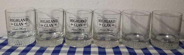6 copos de Whisky + 6 Copos de sumo, base em espiral
