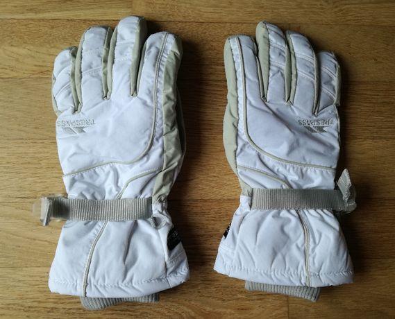 Nowe rękawica narciarskie Trespass białe damskie XL zimowe rękawiczki