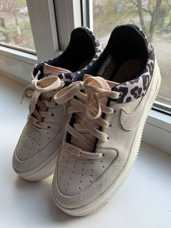 Женские кроссовки Nike air force ОРИГИНАЛ бежево-леопардовые