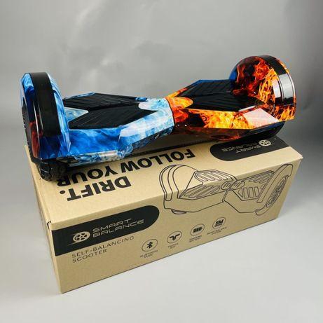 "Гироборд 8"" гироскутер Smart Balance , Смарт баланс Огонь и лед"