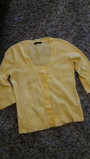 Żółty sweter, sweterek damski