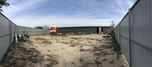 Аренда части склада  с территорией  40грн/кв Корнин