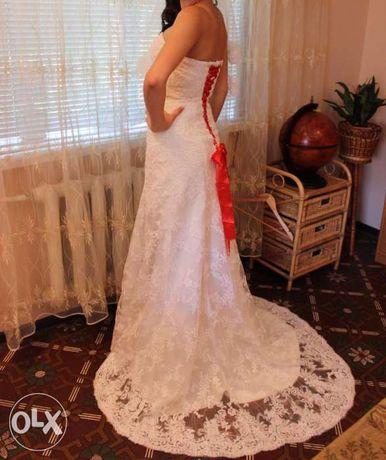 Свадебное платье ручной работы!!!