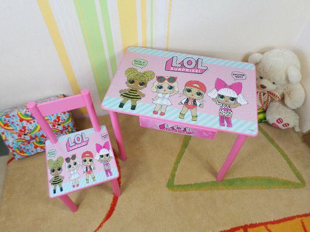 """Детский стол и стульчик """"Кукла Лол - dolls L.o.l"""" столик-парта 1-7 лет"""