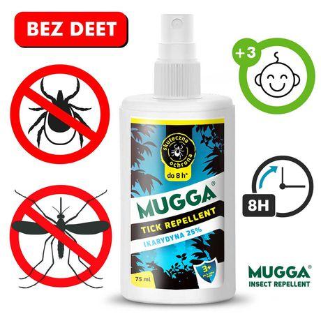 MUGGA spray na kleszcze i komary 25% IKARYDYNA