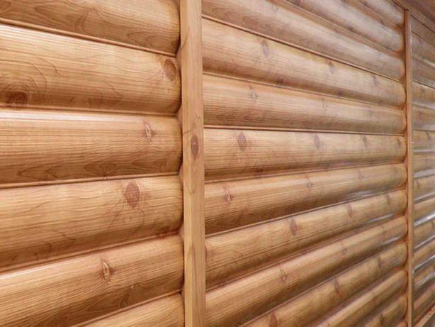 Сайдинг металлический, Блок-Хаус, Екобрус, Имитация дерева