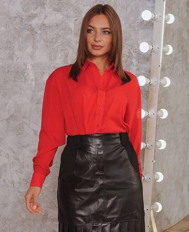 Бордовая рубашка marca moderna