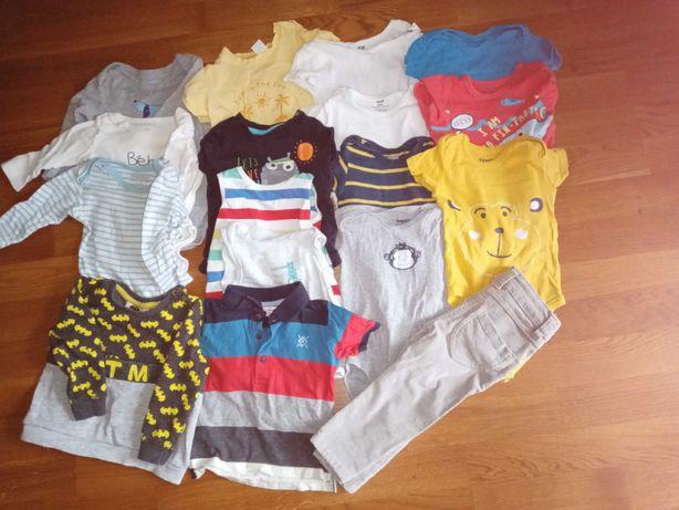Ubranka chłopięce r. 80 duży zestaw (2 zdjęcia)