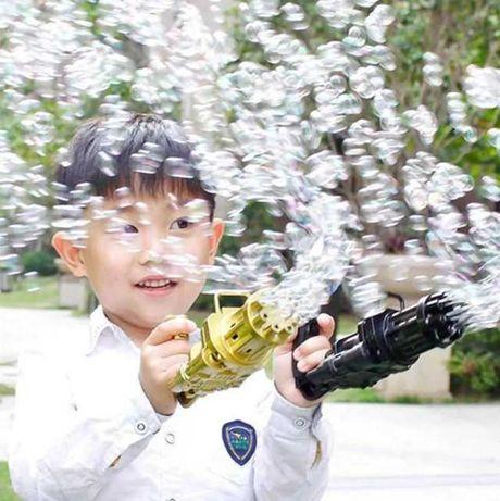 Пулемет для мыльных пузырей пистолет Bubble gun Gatling автомат