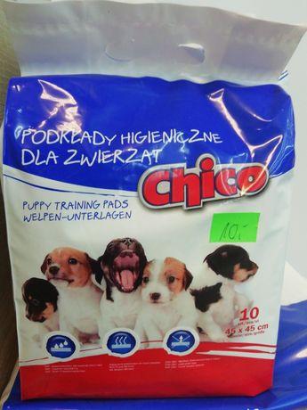 Podkłady maty higieniczne dla zwierząt Chico, 45x45 cm, 10 sztuk kot