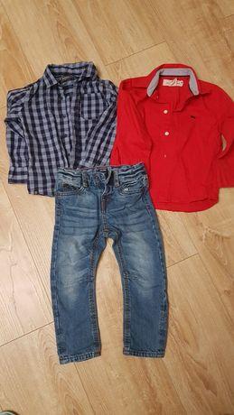 Koszule H&M RESERVED i spodnie KIABI 98/104