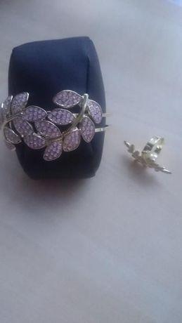 Zestaw Biżuterii. Pierścionek i Bransoleta Regulowana