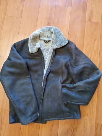 Зимняя кожаная куртка,дубленка натуральная пилот