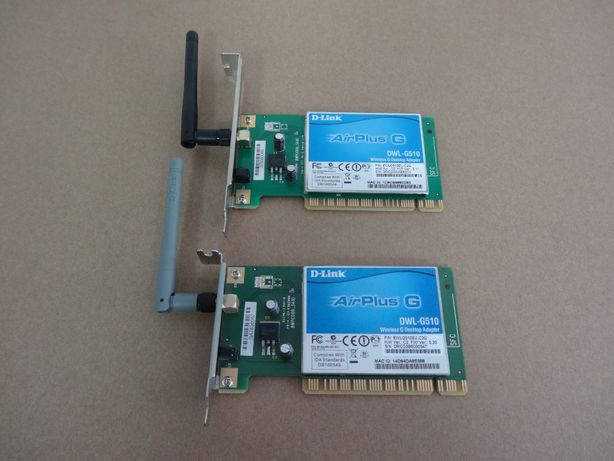 Lote 2 placas de rede Wireless Dlink DWL-G510 PCI