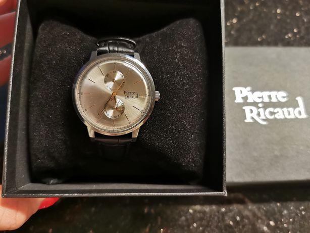 Pierre Ricaud zegarek męski 100% skora naturalna okazja