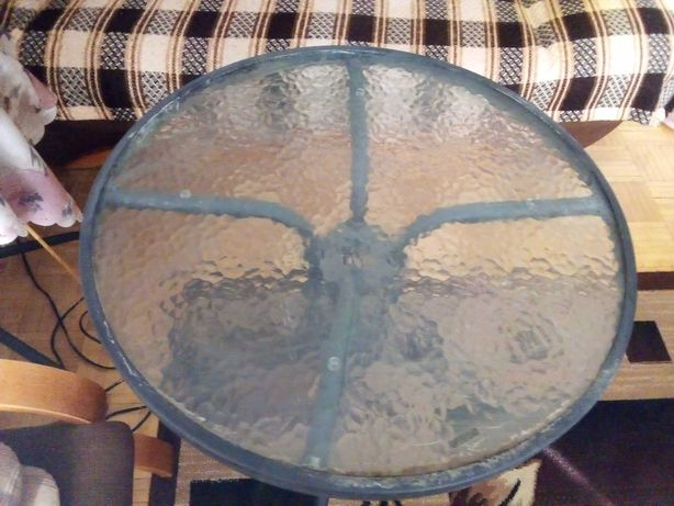 Sprzedam stół okrągły z szklanym blatem i krzesło