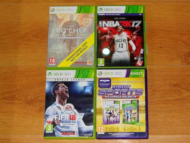 Gry na XBox 360 Fifa 18 NBA 2k17 Kinect Sports Wiedzmin