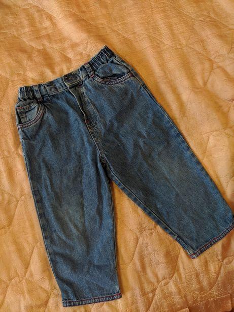 Джинсовые штанишки на девочку 9-12-18 мес lady bird + подарок костюм
