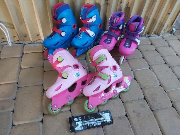 Regulowane Rolki Oxelo Decathlon dla Dziecka Dziewczynki 28-30 Wysyłka