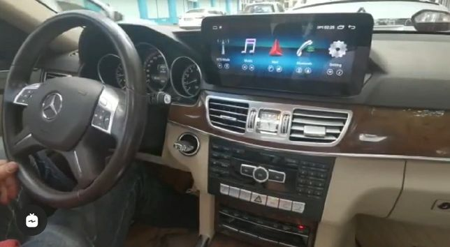 Auto rádio Mercedes Classe E W212 CLS GPS USB Bluetooth Android