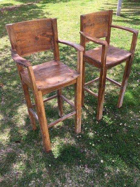 Cadeira alta de taberna - 2 unidades