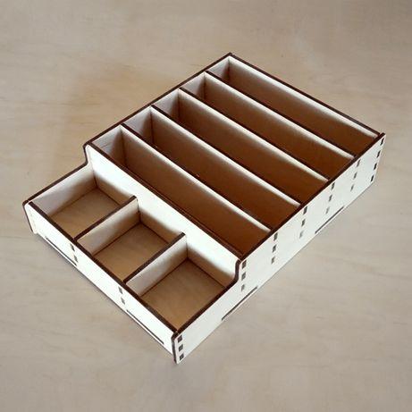 Лоток кассовый для денег дерев. (денежная коробка, ящик) разные модели