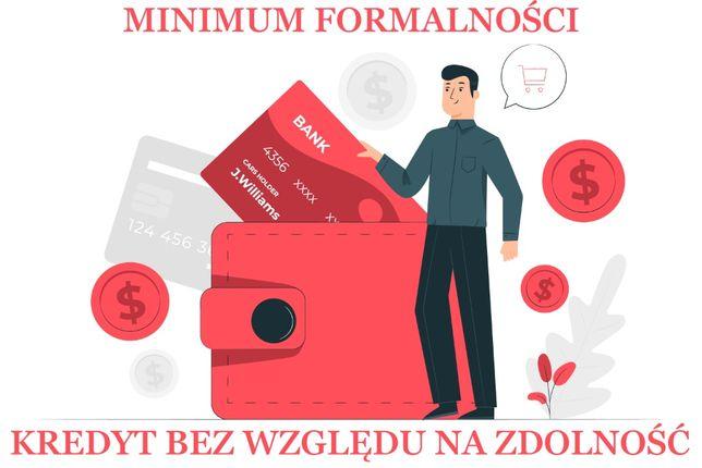 Kredyt gotówkowy lub hipoteczny - BEZ ZNACZENIA RAPORT BIK
