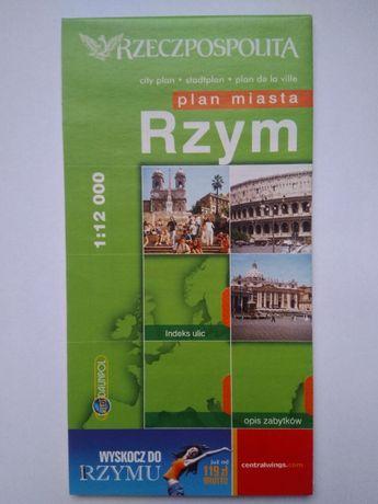 plan/mapa Rzymu