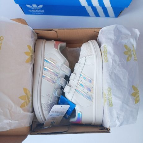 Детские белые кеды Adidas superstar р. 22-33