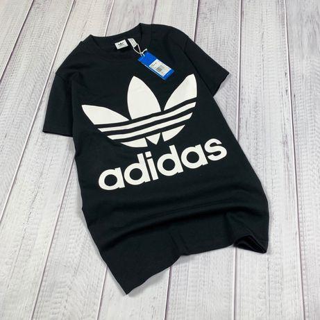 Удлинённая оверсайз футболка Adidas original XS S M женская новая