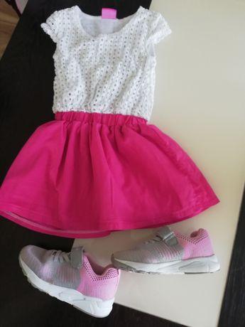 Sukienka 110-116 buciki 27