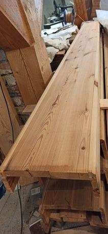 Imitacja belki - drewniane korytka