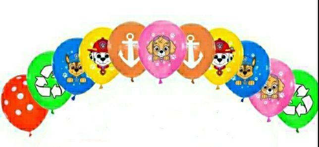10 sztuk kolorowych baloników Psi Patrol