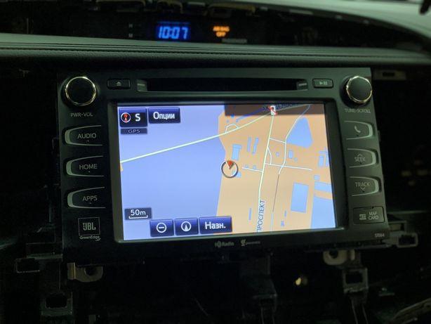 Навигация Украины Lexus-Toyota русификация чётное радио