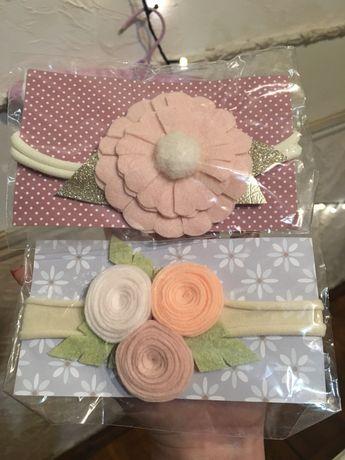 Резинки ободочки для девочки с цветами обруч детский заколки для детей