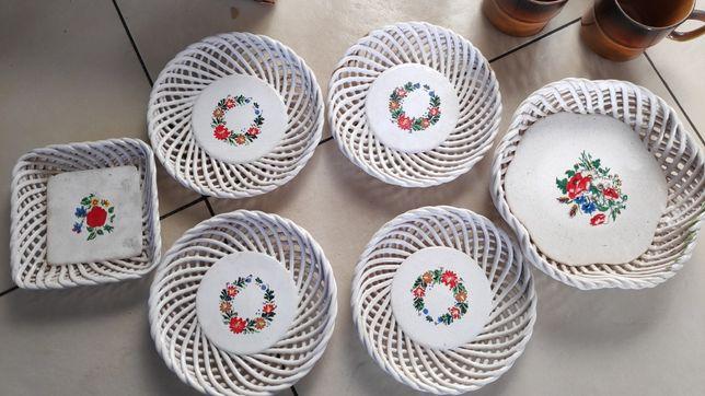 Porcelana Bodrogkereszturi keramia-zestaw 6 elementów talerzyk