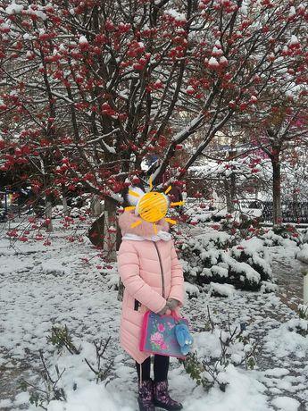 Продам зимнее пальто на девочку рост 140-146