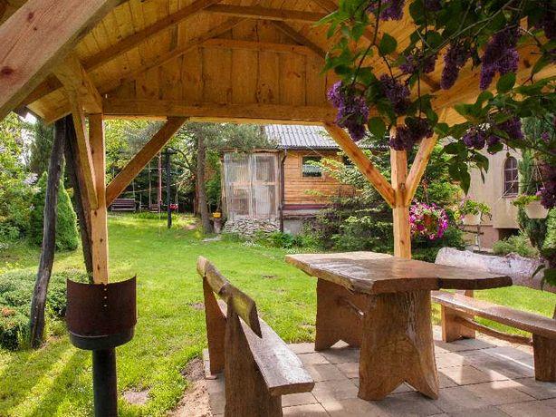 agroturystyka, drewniany domek całoroczny
