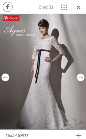 Suknia ślubna- koronkowa, r. 38