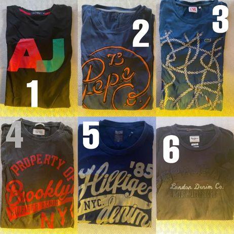 T-shirt Armani, Levi's, Pepe Jeans, Tommy Hilfiger, Lacoste, Hugo Boss