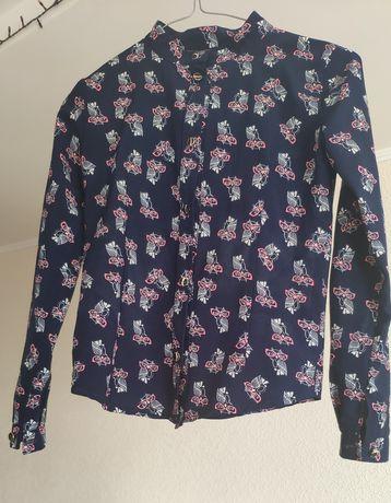 Блузка рубашка с совушкой