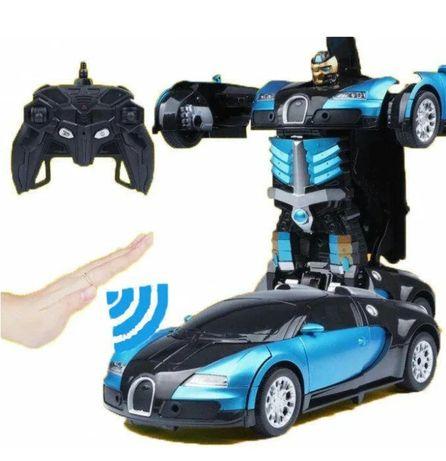 Машинка Трансформер Bugatti Robot Size 1:18 с пультом