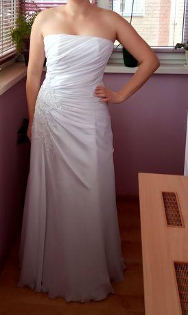 Весільне плаття з вікритими плечима 44-46 розмір+ фата