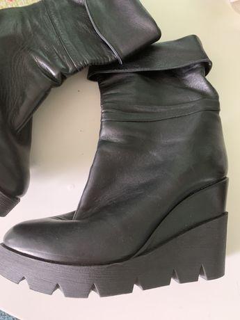 Сапоги ботинки италия кожа